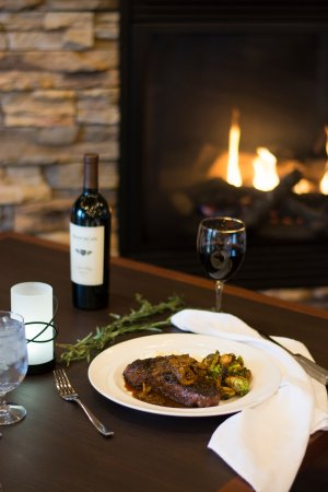 Canonsburg, PA: Enjoy a fireside table with your favorite dinner pairing.