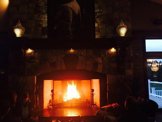 Hubertus, WI: Fireplace at Johnny Manhattan's