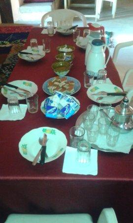 Tafraoute Sidi Ali, Morocco: breakfast