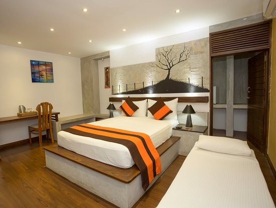 Kundasale, Sri Lanka : Deluxe Double Room with Extra Bed