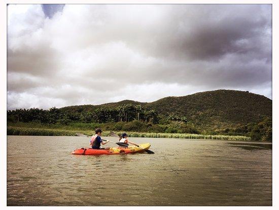 Deshaies, Guadeloupe: Mangrove kids in kayak