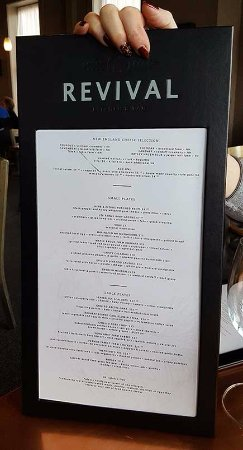 Concord, NH: revival menu
