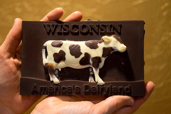Port Washington, WI: Sculpted Chocolate Bar makes the perfect souvenier. Created by John Reichert, owner.