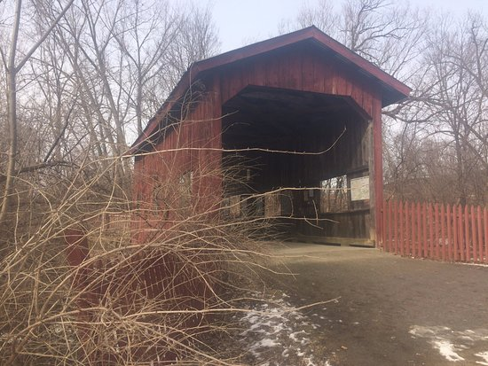 Jericho, VT: covered bridge at Mills Riverside Park