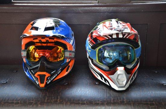 Manchester, VT: Beautiful snowmobile helmets