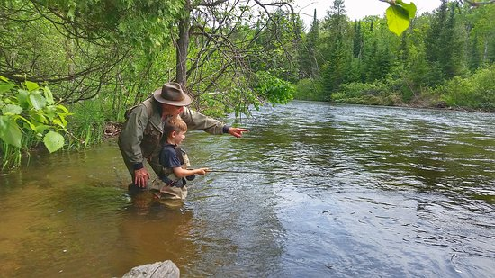 Fishing on the Manistee river - Picture of Manistee County