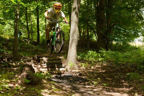 Thompsonville, MI: Downhill mountain biking at Crystal Mountain