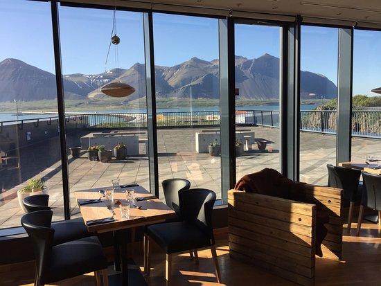 Borgarnes, Iceland: Our patio