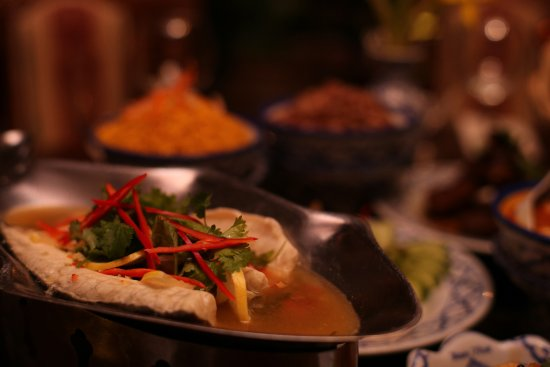 Baan Thai Ballsbridge: Filleted Steamed Sea Bass with Lime and Chillis