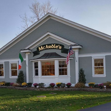 Front view of McArdle's from Fairport Road