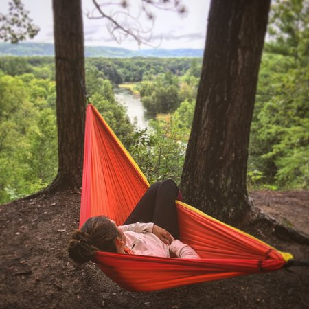 Onekama, MI: Relaxing above Manistee river