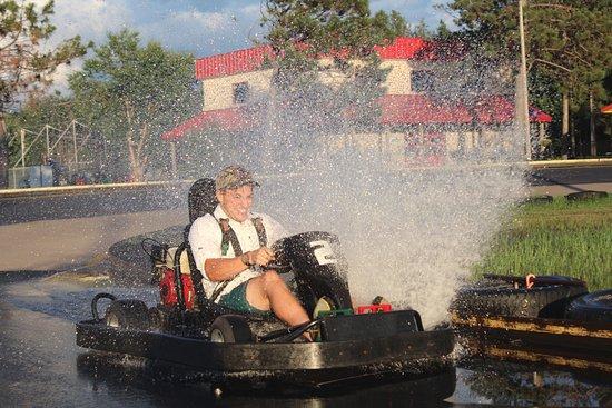Brainerd, MN: Our go karts really make a splash!