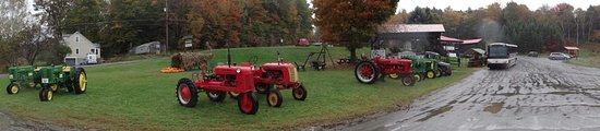 Montpellier, VT: Old Farm Tractors and Bus Parking Area