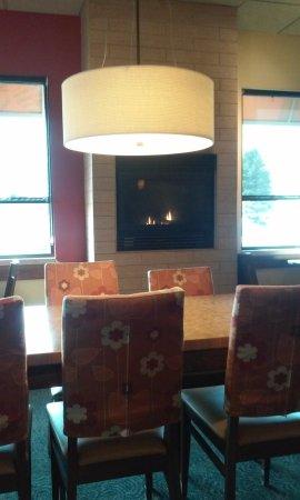 Midland, MI: view of fireplace