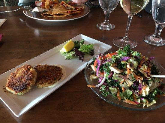 Montrose, CO: Delicious crab cake entree & kale salad