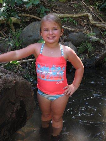Hauula, HI: She loved the waterfall