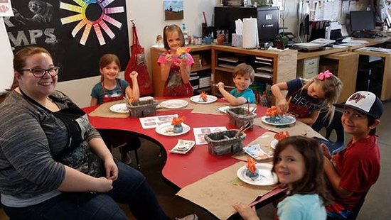Flower Mound, TX: Summer Camp working in clay