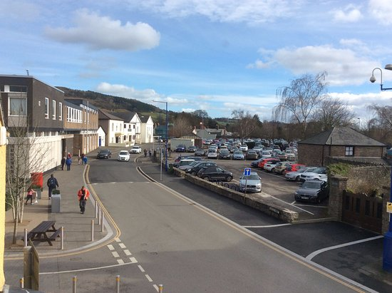 Abergavenny, UK: View from a window room 1 Blorenge to Castle St Car Park