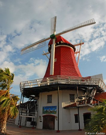 Old Dutch Windmill: A different view of the windmill