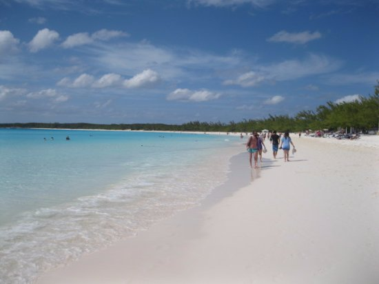 Half Moon Beach Crystal Clear Water And Sugar Sand At Cay
