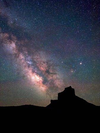 Castle Valley Inn: Milky Way over Castle Valley mesa