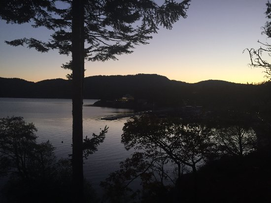 Eastsound, WA: view from balcony, just after an autumn sunset