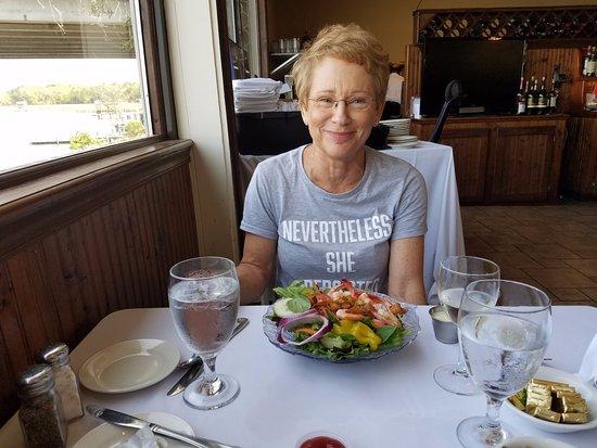Ocean Springs, MS: Lora with shrimp salad super