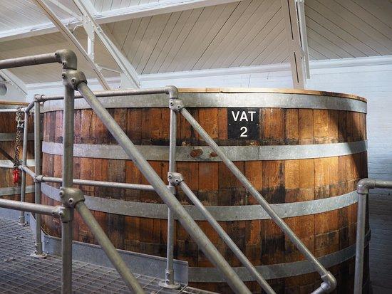 Bury St. Edmunds, UK: Yeast Vat, Greene King Brewery