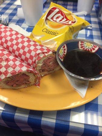 เมคานิกส์วิลล์, เวอร์จิเนีย: Roast Beef French Dip and chips