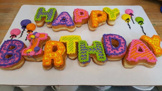 West Fargo, ND: Birthdays are always better with DONUTS but how about Donut Letters.