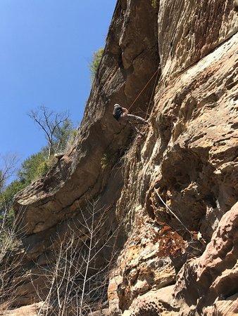 Campton, KY: Third climb, on the way down!