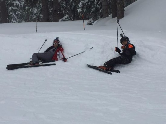 Pinecrest, Kalifornien: Resting after a few black runs