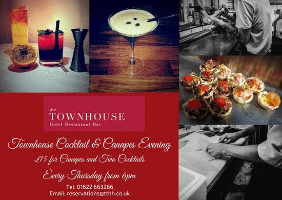The Townhouse Restaurant: Canape & Cocktail Thursday Evenings!!
