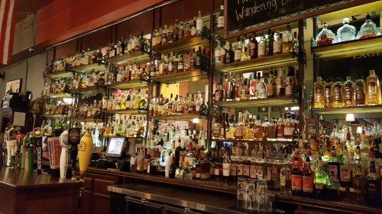 Dubh Linn Irish Brew Pub: Whiskey Selection