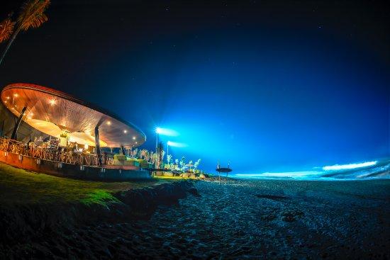 Keramas, Indonesia: night surfing lights