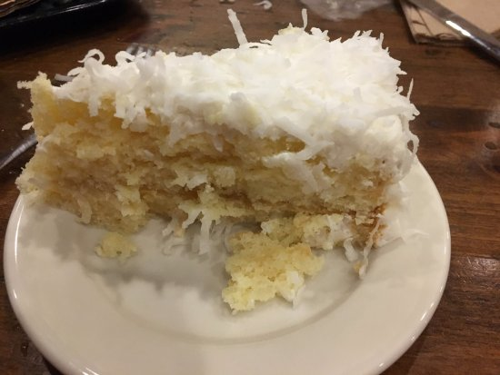 Gaithersburg, MD: Coconut cake - Not too sweet - Just right!