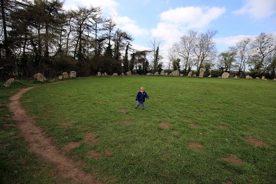 Chipping Norton, UK: Our toddler enjoying the stones