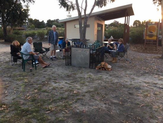 Scamander, Australia: communal fire pit