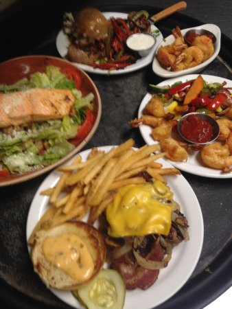 Cheboygan, MI: Something for everyone ~ Salads, burgers, seafood, steaks and MUCH more.