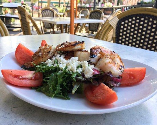 Adriatic: Greek Salad and Shrimps
