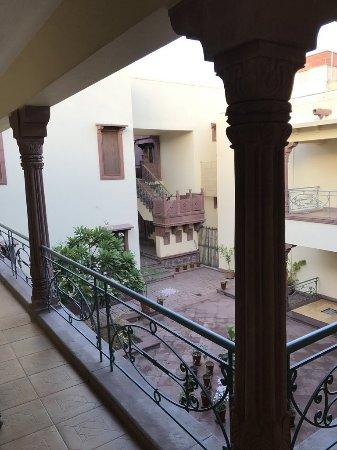 Ratan Vilas: view from door of room