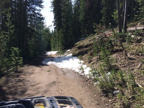 Dubois, WY: still snow pack on the ground in june