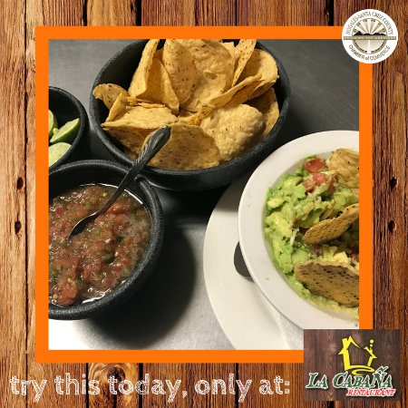Nogales, AZ: Our famous guacamole & salsa with a side of chips.