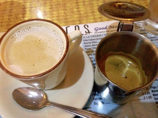 Hialeah, FL: Cafe Con Leche.... it comes in a cup of milk followed by the expresso that you mixed in