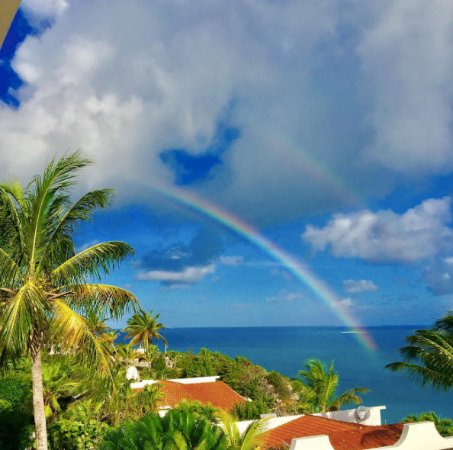 South Hill, Anguilla: Morning rainbows; taken from Mikado suite (2nd floor)