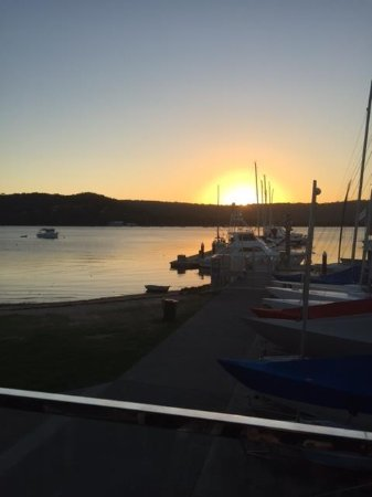 Gosford, Australia: The view from the outdoor area.