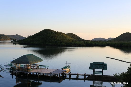 Busuanga Town, Philippines: Sunset from the room.