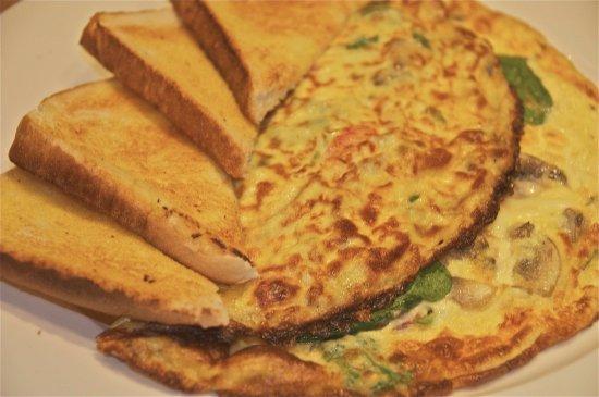 Ashmore, Australia: Vegetarian omelette