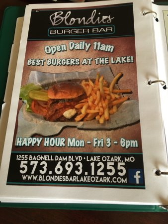 Miller, MO: Seriously, they are 100% truthful about. Ring the best burger at the lake, I would venture to ex