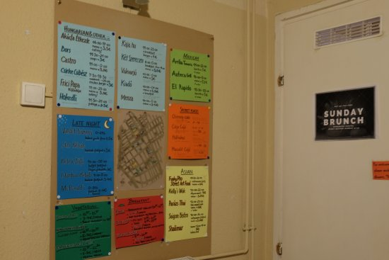 Home Made Hostel: Recommended board
